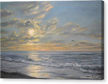 Atlantic Dawn Canvas Print by Kathleen McDermott