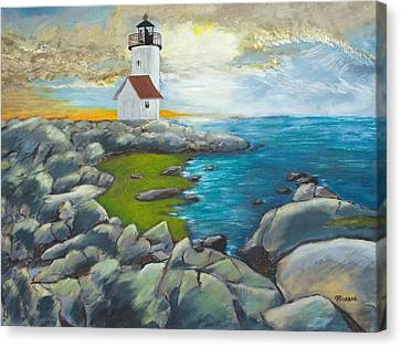 Atlantic Dusk Canvas Print by Cynthia Morgan