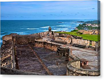 Canvas Print featuring the photograph Atlantic Ocean From Fort San Cristobal by Ricardo J Ruiz de Porras
