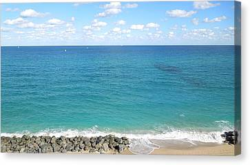 Atlantic Ocean In South Florida Canvas Print by Ron Davidson
