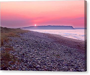 Atlantic Sunrise Canvas Print by George Cousins