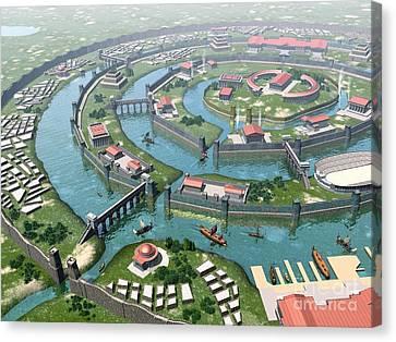 Atlantis, Artwork Canvas Print by Jos� Antonio Pe�as