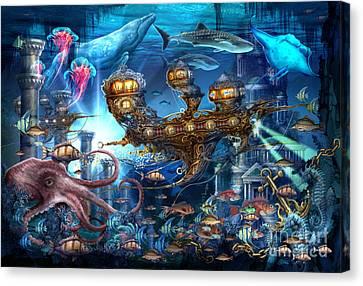 Gypsy Canvas Print - Atlantis Express by Ciro Marchetti