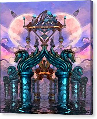 Atlantis Canvas Print - Atlantis Rising by Acesio Amavi