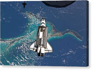 Atlantis Canvas Print - Atlantis Shuttle Docking - Final Mission by World Art Prints And Designs