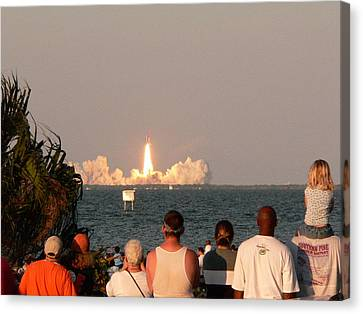 Atlantis Canvas Print - Atlantis Shuttle Launch by David Bearden