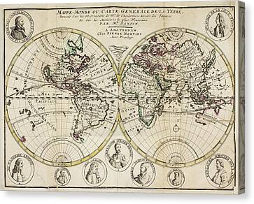 Atlas Of The World Canvas Print by British Library