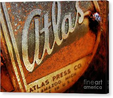 Canvas Print featuring the photograph Atlas Press - No.96782 by Joe Finney