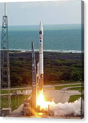 Atlas V Rocket Launch Canvas Print by National Reconnaissance Office