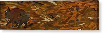 Atlatl Hunting  Canvas Print by Gerald Strine