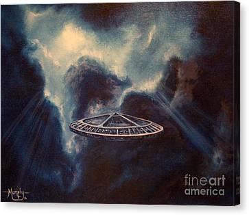 Atmospheric Arrival Canvas Print by Murphy Elliott