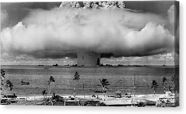 Atomic Canvas Print - Atomic Bomb Test by Mountain Dreams