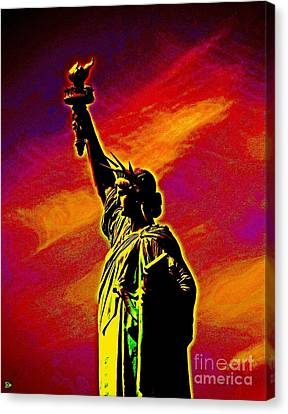 Atomic Liberty Canvas Print by Andy Heavens