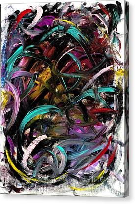 Atomic Ribbons Canvas Print