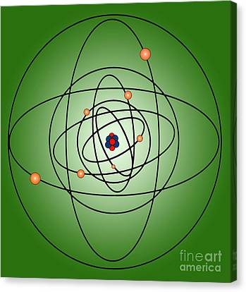 Atomic Structure Model Canvas Print by Science Source