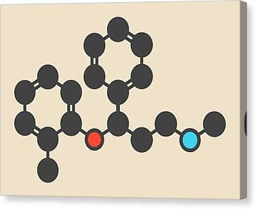 Atomoxetine Adhd Drug Molecule Canvas Print by Molekuul