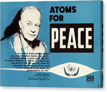 Potus Canvas Print - Atoms For Peace Speech by Us National Archives