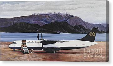 Atr 72 - Arctic Bay Canvas Print by Marilyn  McNish