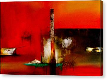 Atracando Canvas Print by Thelma Zambrano
