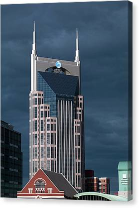 At&t Building Canvas Print by Carol M. Highsmith Archive, Library Of Congress