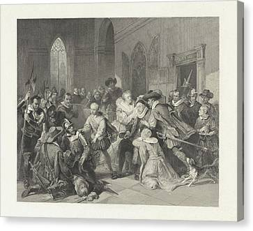 I Ask Canvas Print - Attack Of Jean De Jauregui On Prince William by Litz Collection