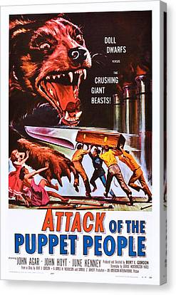 Attack Of The Puppet People, Us Poster Canvas Print by Everett