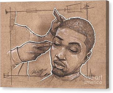 Clippers Canvas Print - Attention To Details by The Barber Gallery