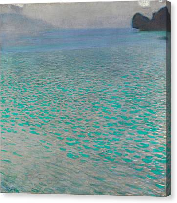 Attersee Canvas Print by Gustav Klimt