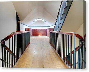 Attic Staircase Canvas Print by Alexey Stiop