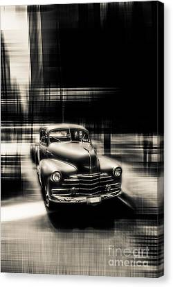 attracting curves III gray Canvas Print by Hannes Cmarits