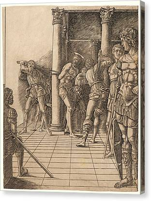 Attributed To Andrea Mantegna Italian, Ca. 1431 - 1506 Canvas Print by Litz Collection