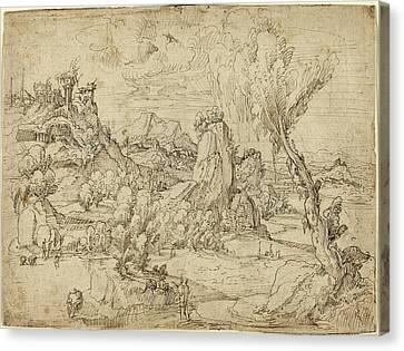 Attributed To Pieter Cornelisz Kunst Netherlandish Canvas Print by Quint Lox