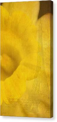 Au Coeur De La Jonquille Canvas Print by Lisa Knechtel