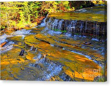 Canvas Print featuring the photograph Au Train Falls by Terri Gostola