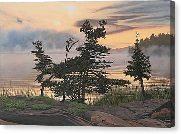 Auburn Evening Canvas Print by Kenneth M  Kirsch