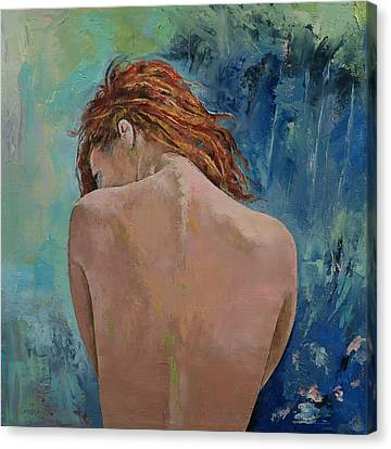Water Lillies Canvas Print - Auburn by Michael Creese