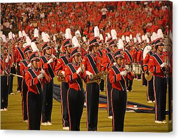 Marching Band Canvas Print - Auburn University Marching Band by Mountain Dreams