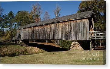 Auchumpkee Creek Bridge Canvas Print by Donna Brown