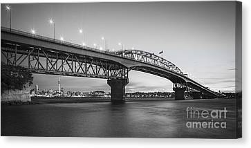 Auckland Canvas Print - Auckland Harbour Bridge Evening by Colin and Linda McKie