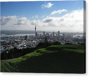 Auckland With Mt. Eden Canvas Print by David and Mandy