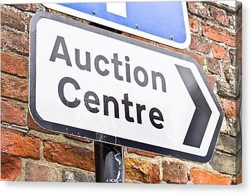 Auction Centre Canvas Print