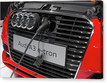 Tron Canvas Print - Audi A-3 E-tron Electric Car by Jim West