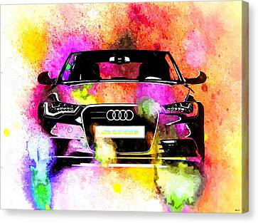 Audi A6 Avant Watercolor Canvas Print
