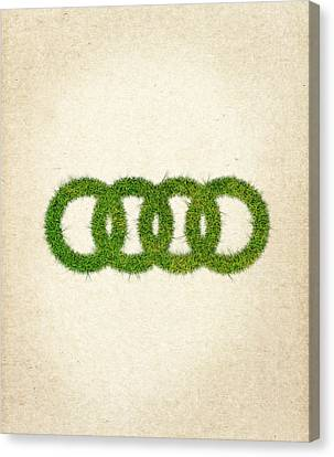 Audi Grass Logo Canvas Print by Aged Pixel