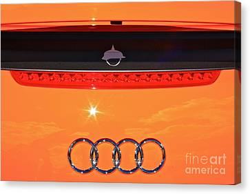 Canvas Print featuring the photograph Audi Orange by Linda Bianic