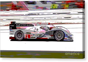 Audi R18 E-tron Canvas Print by Pixelated Foto