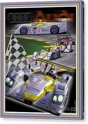 Canvas Print featuring the photograph Audi R8 2005 by Ed Dooley