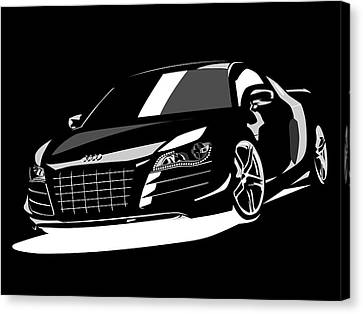 Audi R8 Canvas Print by Michael Tompsett
