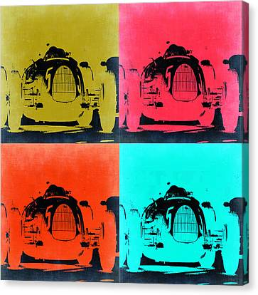 Audi Silver Arrow Pop Art 2 Canvas Print by Naxart Studio