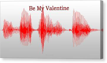 Audio Art Be My Valentine Canvas Print by Thomas Woolworth